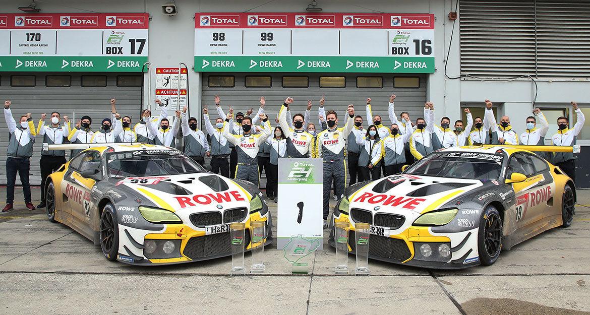 Erstmals seit zehn Jahren konnte ein BMW wieder das ADAC TOTAL 24h-Rennen Nürburgring gewinnen. Der Fahrwerkhersteller KW automotive gratuliert seinem Motorsportkunden Rowe Racing und BMW Motorsport zu dieser Meisterleistung.
