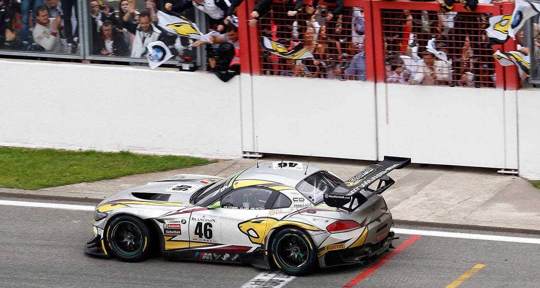 Bei seiner Abschiedssaison 2015 verabschiedete sich der BMW Z4 GT3 mit dem Fahrertrio Nick Catsburg, Lucas Luhr und Markus Palttala vom BMW Sports Trophy Team Marc VDS mit dem Gesamtsieg beim 24h-Rennen Spa-Francorchamps.