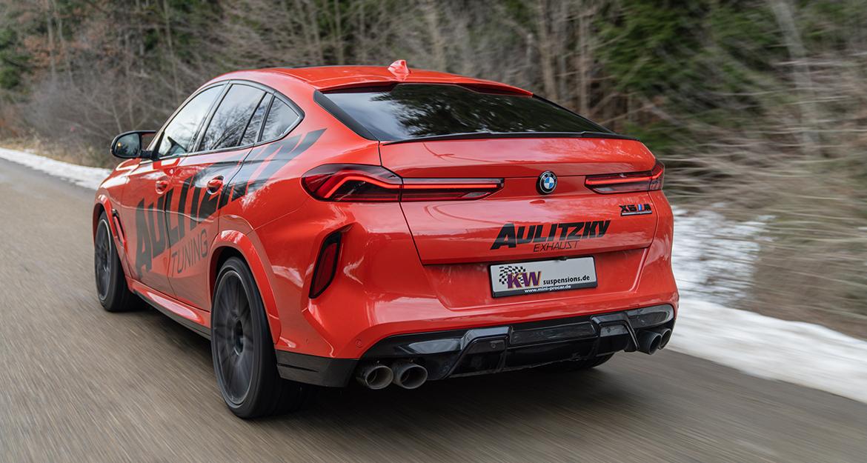 Beim BMW X6 M (F96) werden vom Teilegutachten aufgrund des Karosserieaufbaus und des vorhandenen Federwegs an der Vorderachse eine Tieferlegung von 20 bis 50 Millimeter und an der Hinterachse von 15 bis 45 Millimeter abgedeckt.