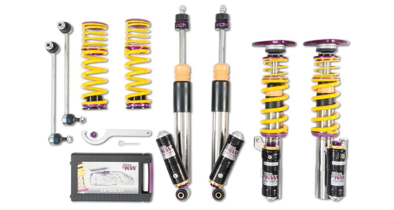 Die Clubsport Gewindefahrwerke gibt es mit 3-fach und 2-fach leistungseinstellbarer Rennsport-Dämpfertechnologie.