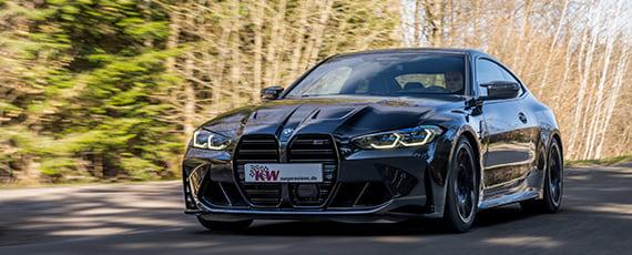 Für den BMW M3 (G80) und BMW M4 (G82) ist das KW Gewindefahrwerk Variante 4 bereits erhältlich.